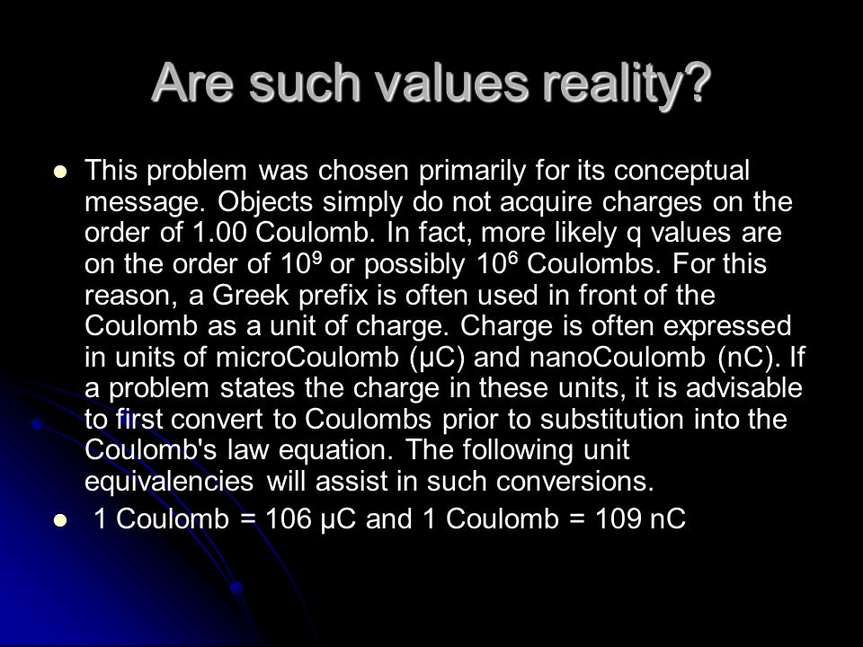Are such values reality