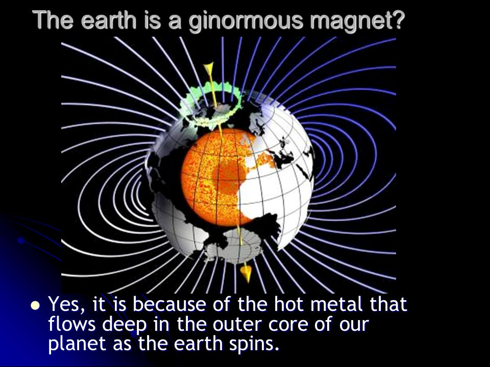 The earth is a ginormous magnet