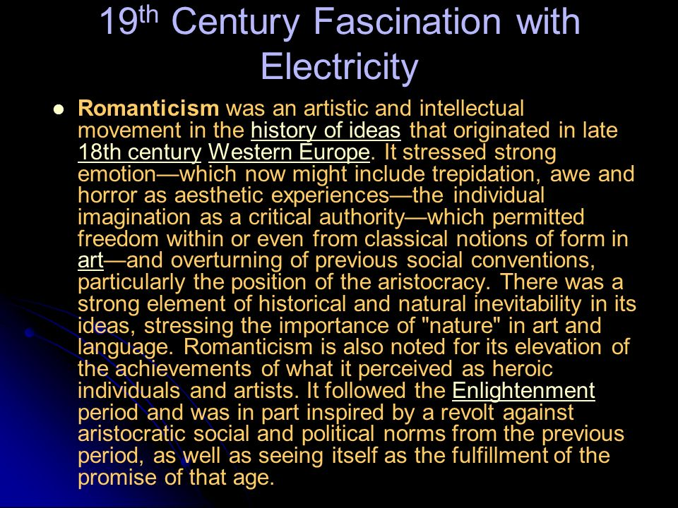 19th Century Fascination with Electricity