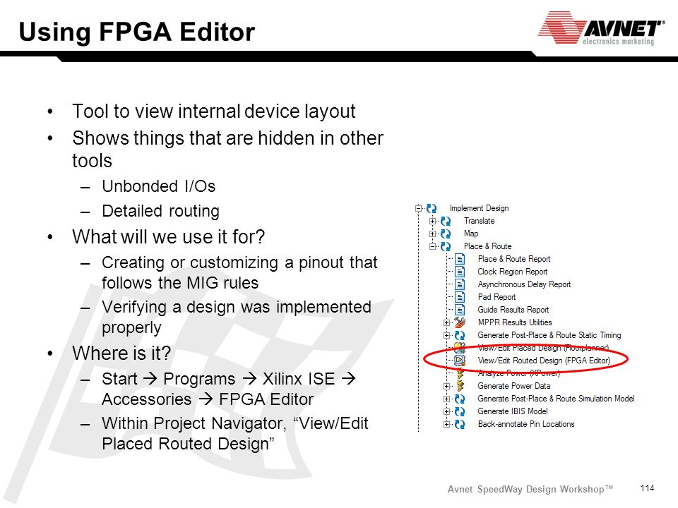 Using FPGA Editor Tool to view internal device layout