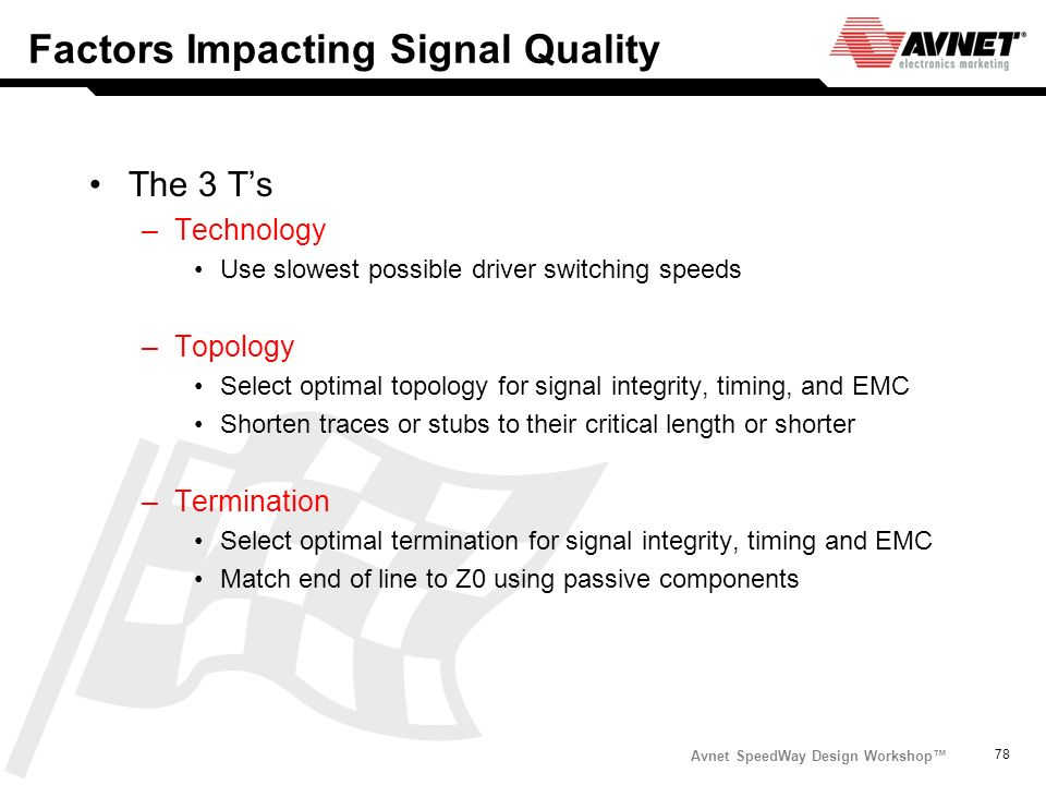 Factors Impacting Signal Quality