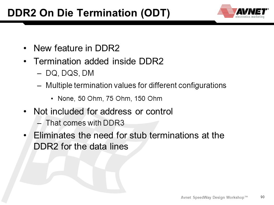 DDR2 On Die Termination (ODT)