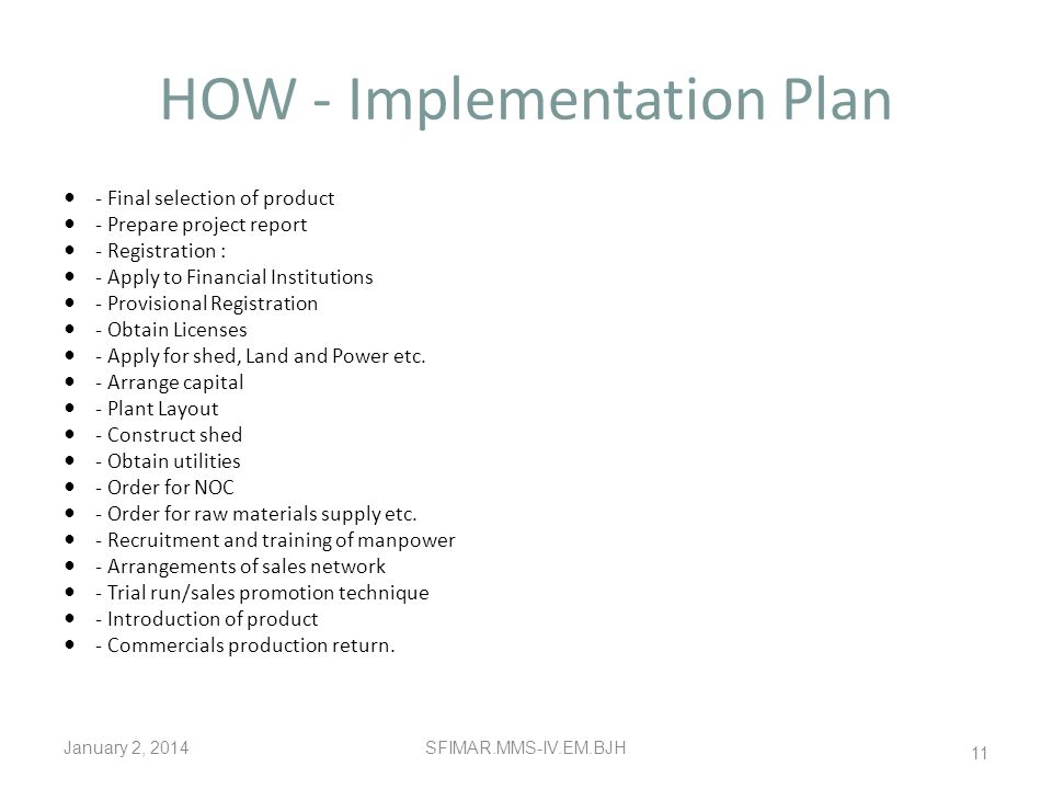 HOW - Implementation Plan