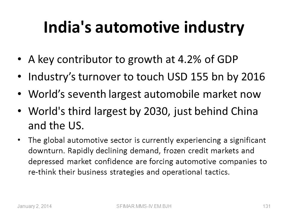 India s automotive industry