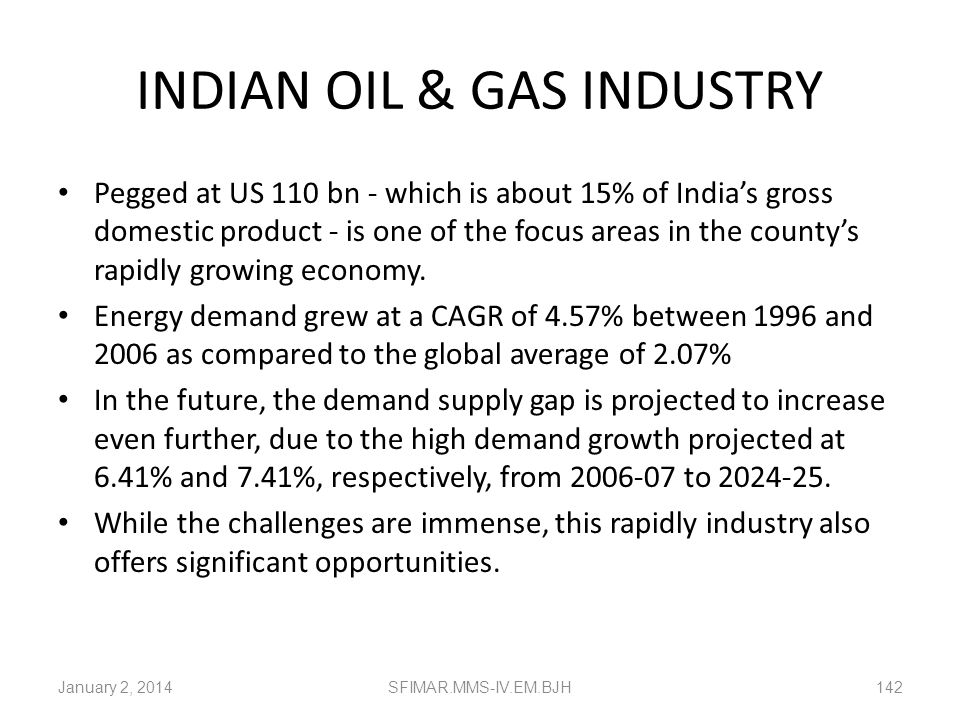 INDIAN OIL & GAS INDUSTRY