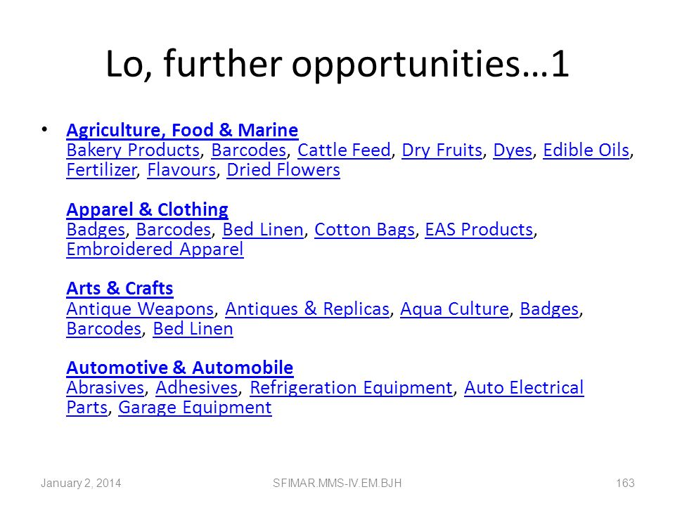 Lo, further opportunities…1