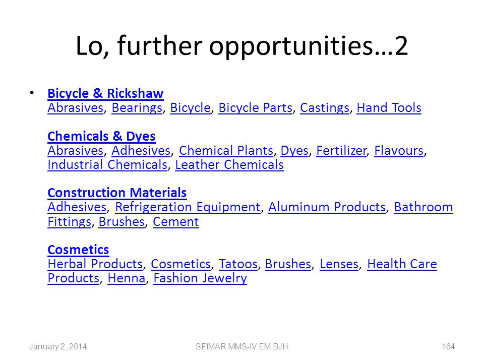 Lo, further opportunities…2