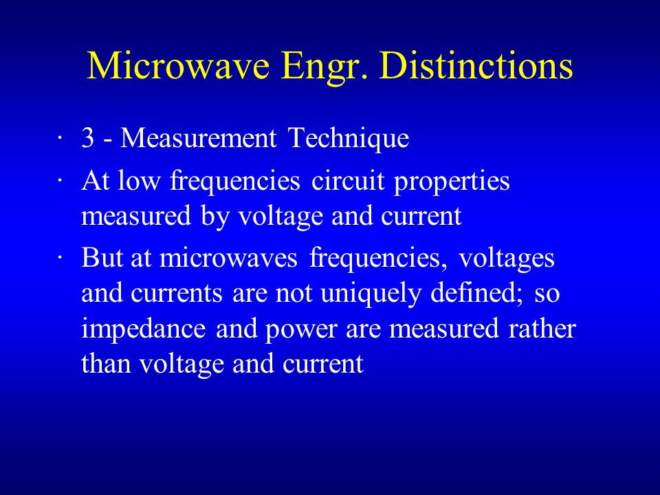 Microwave Engr. Distinctions