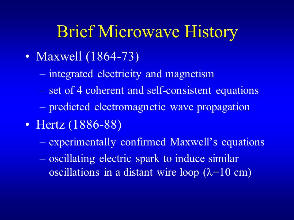 Brief Microwave History