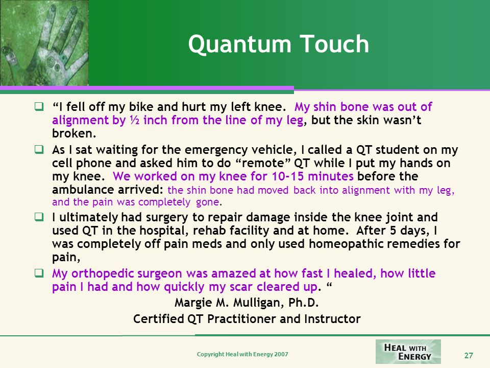 Certified QT Practitioner and Instructor