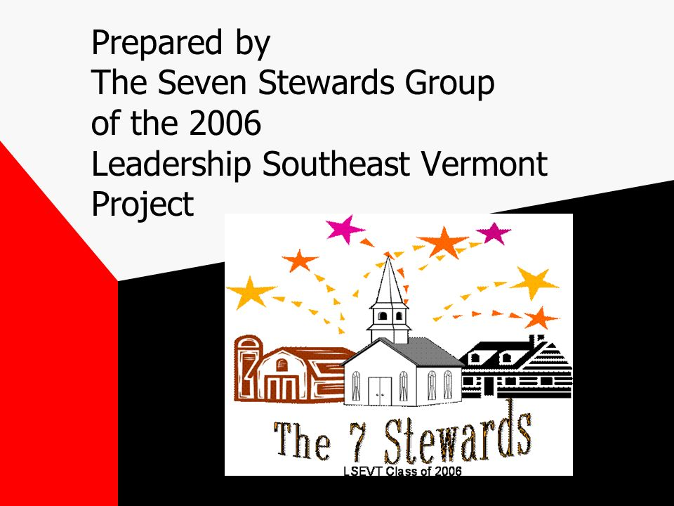 Prepared by The Seven Stewards Group of the 2006 Leadership Southeast Vermont Project