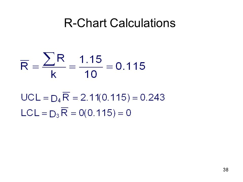 R-Chart Calculations