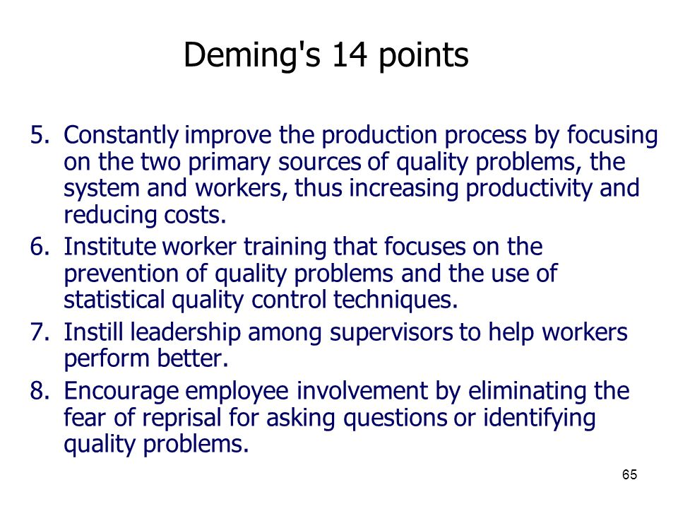 Deming s 14 points