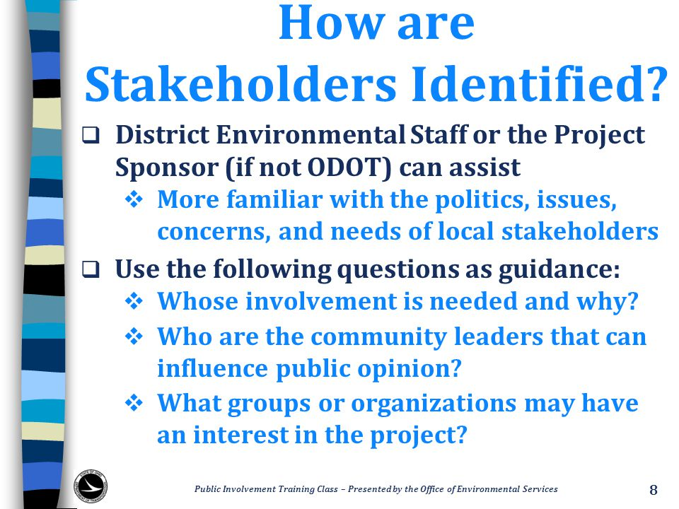 How are Stakeholders Identified