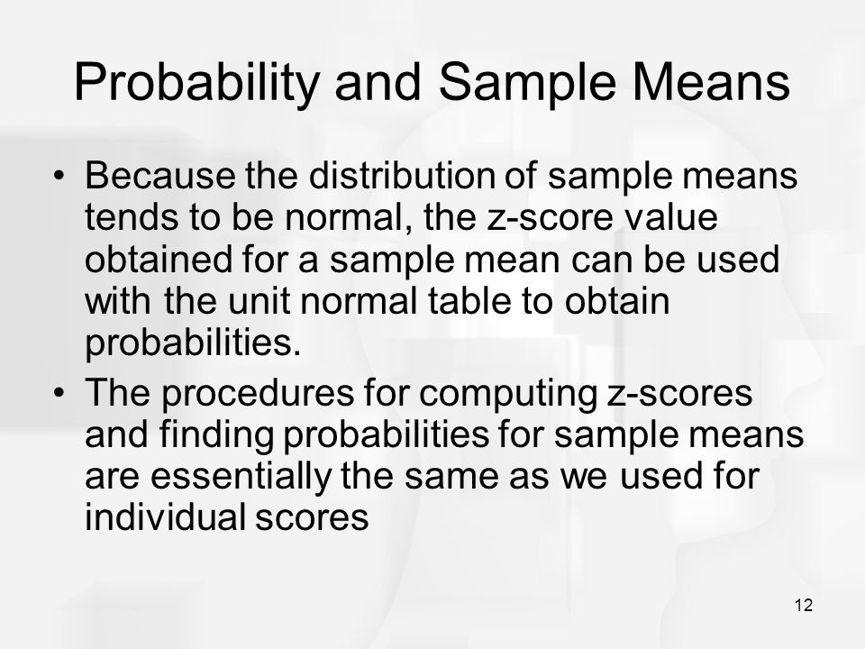 Probability and Sample Means