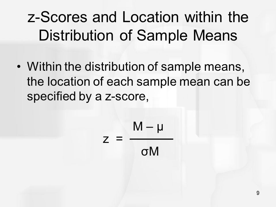 z-Scores and Location within the Distribution of Sample Means