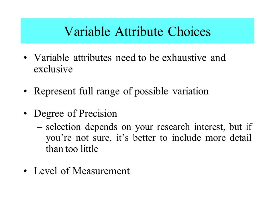 Variable Attribute Choices