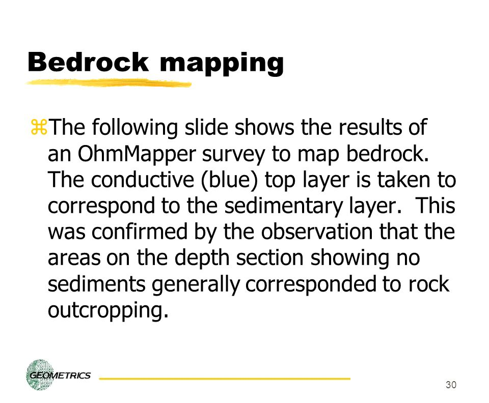 Bedrock mapping