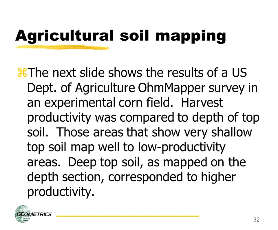 Agricultural soil mapping