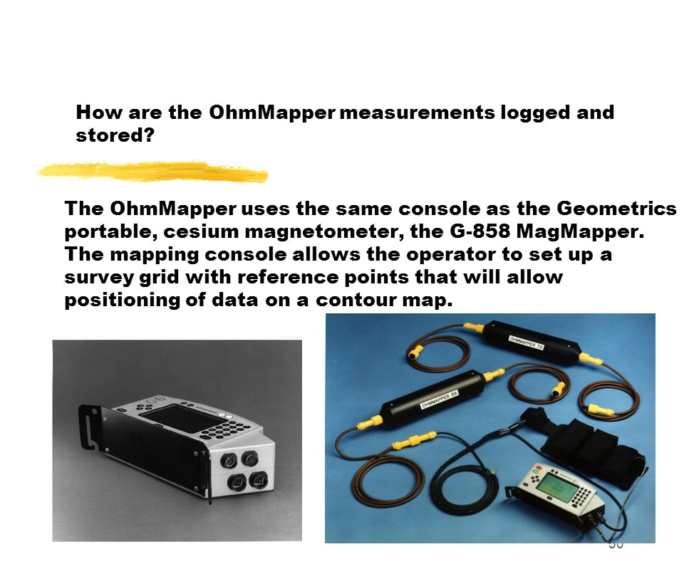 How are the OhmMapper measurements logged and stored