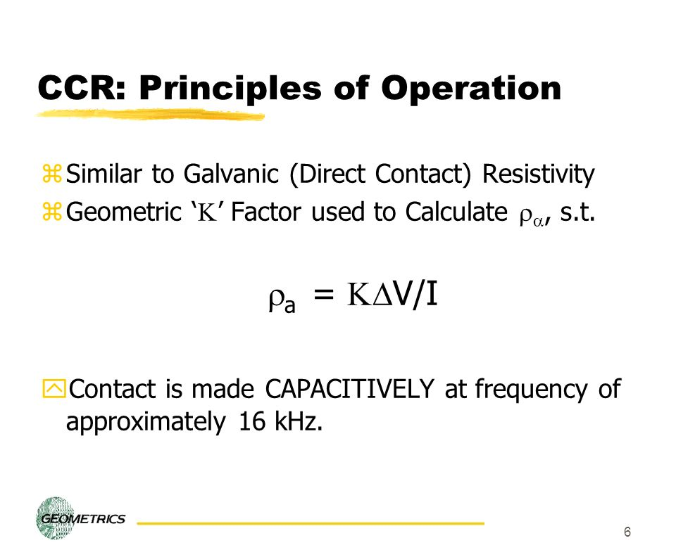 CCR: Principles of Operation