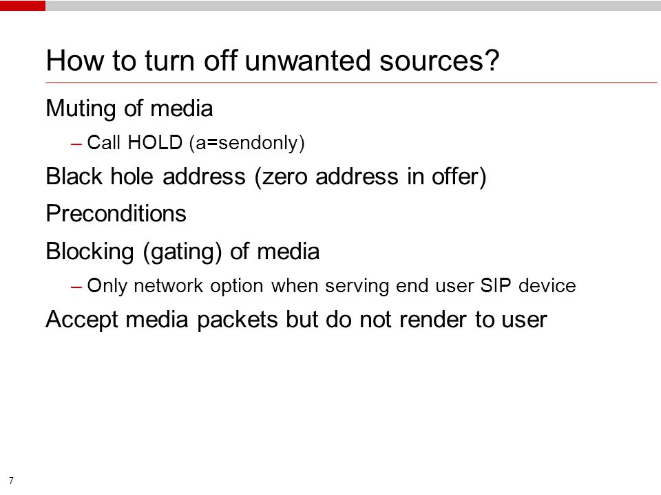How to turn off unwanted sources