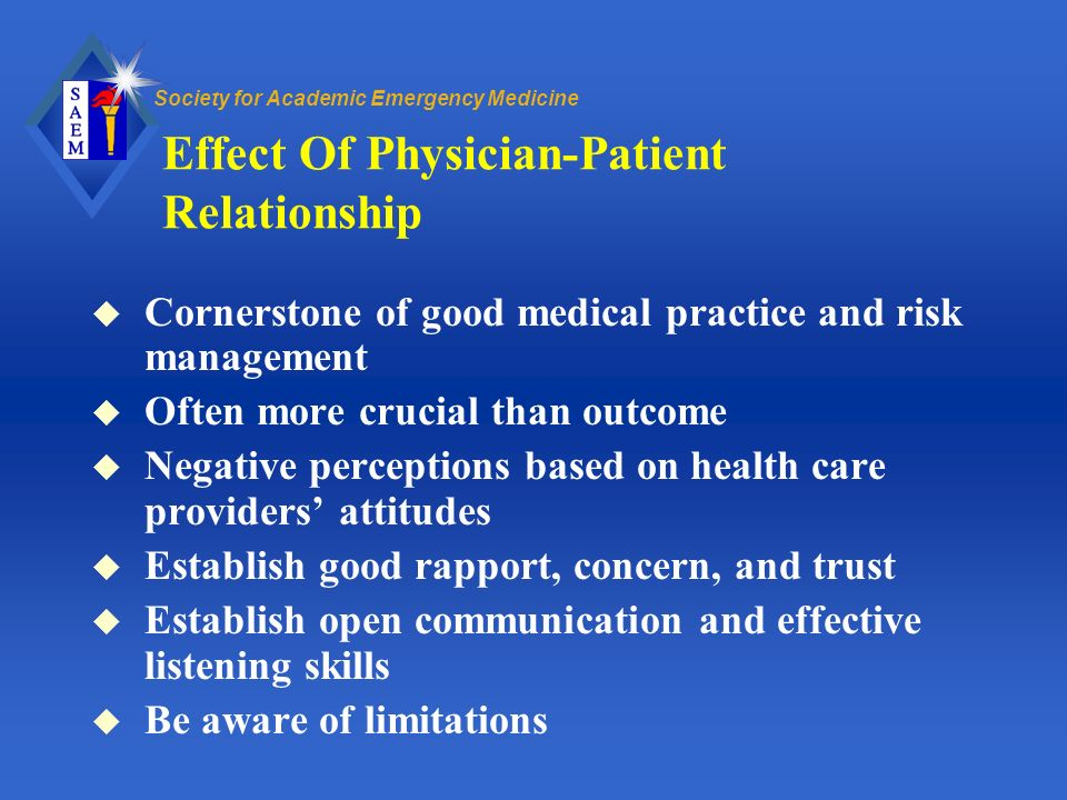 Effect Of Physician-Patient Relationship