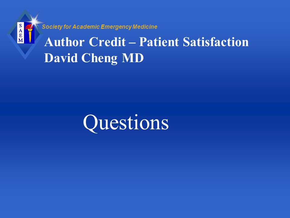 Author Credit – Patient Satisfaction David Cheng MD