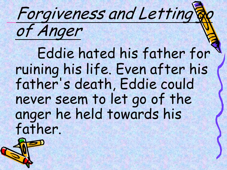 Forgiveness and Letting go of Anger