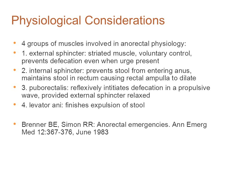 Physiological Considerations