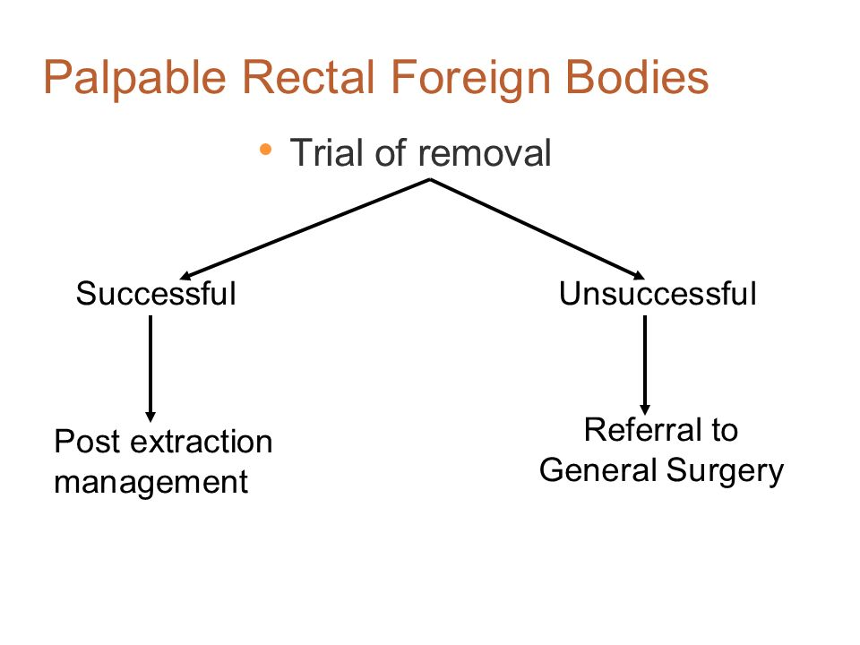 Palpable Rectal Foreign Bodies