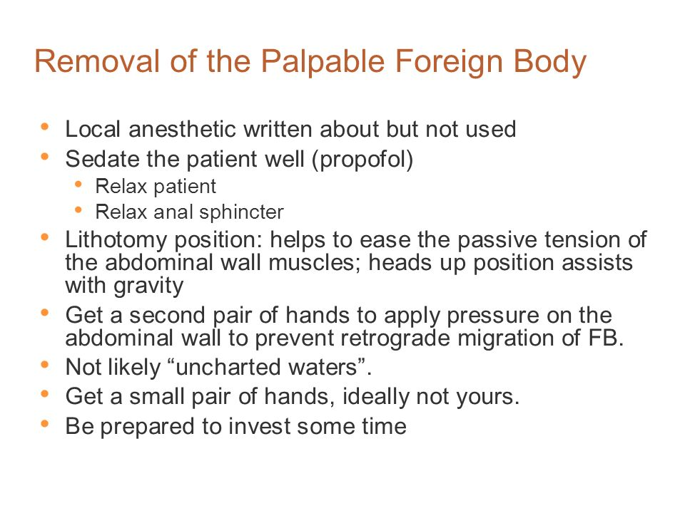 Removal of the Palpable Foreign Body