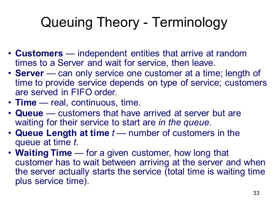 Queuing Theory - Terminology
