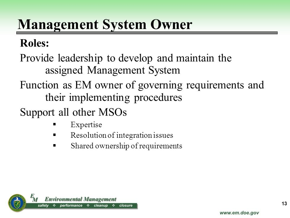 Management System Owner