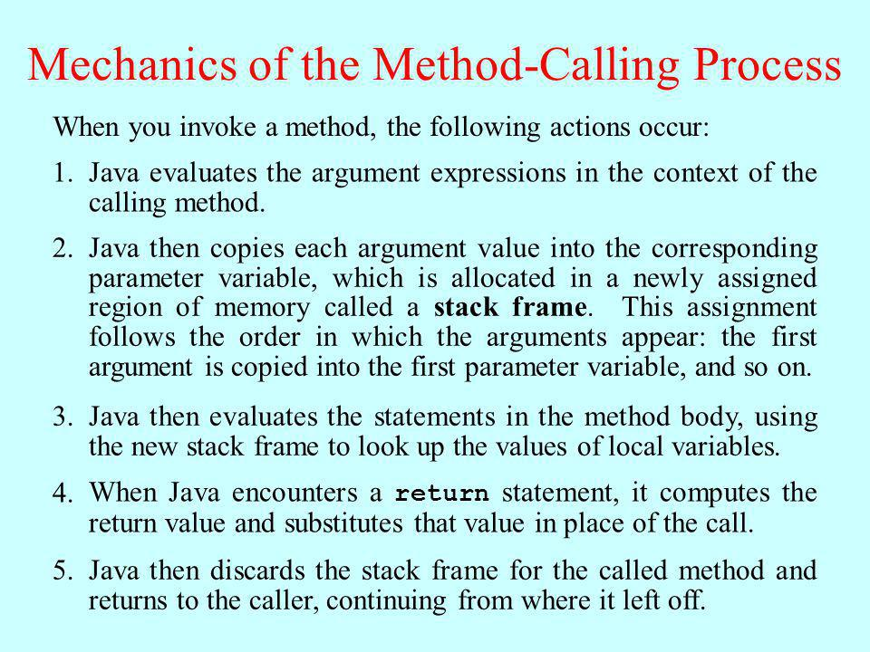 Mechanics of the Method-Calling Process