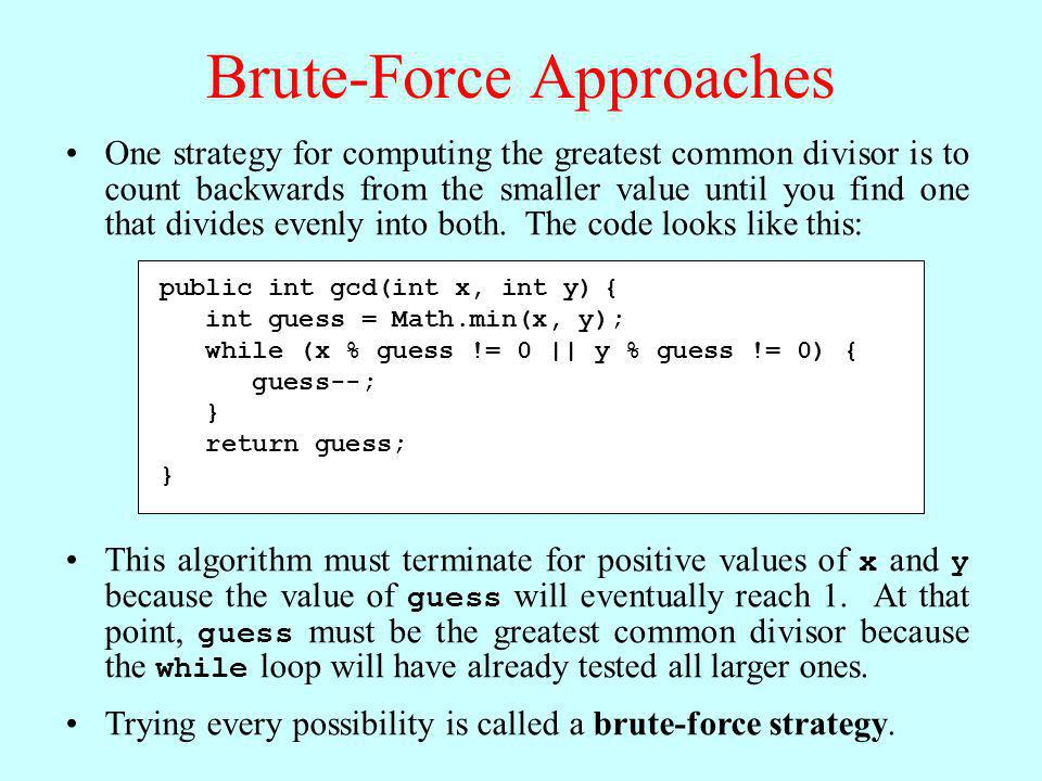 Brute-Force Approaches