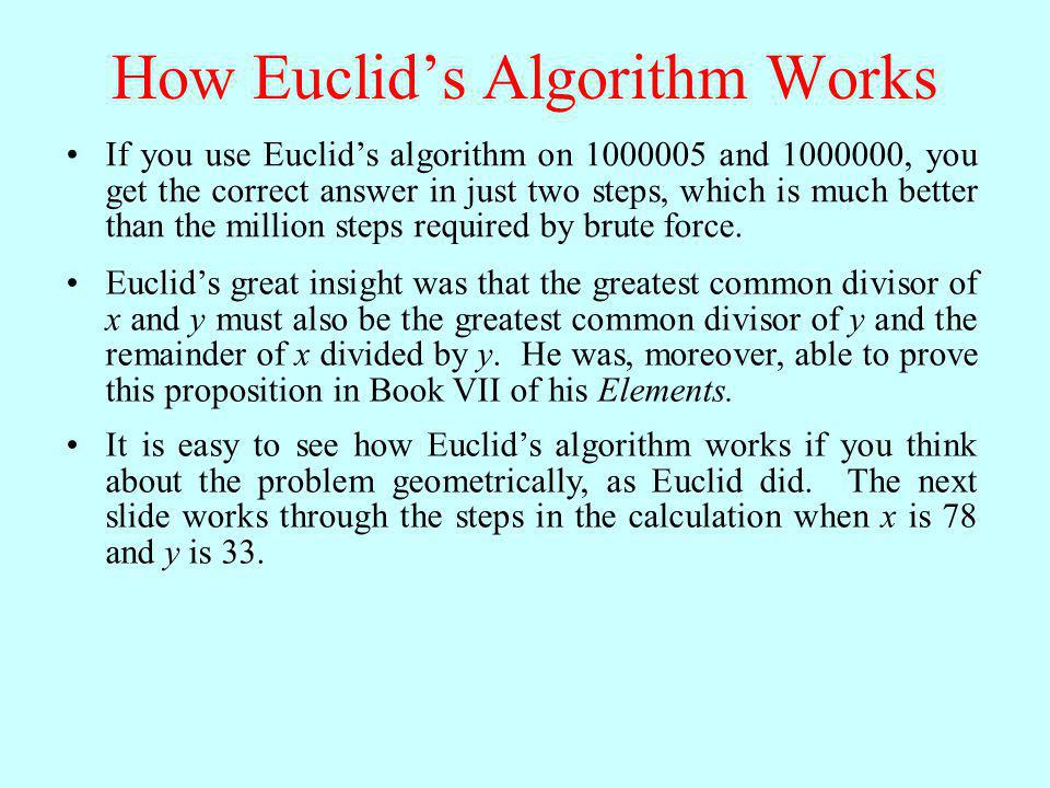 How Euclid's Algorithm Works