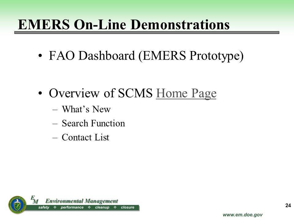 EMERS On-Line Demonstrations