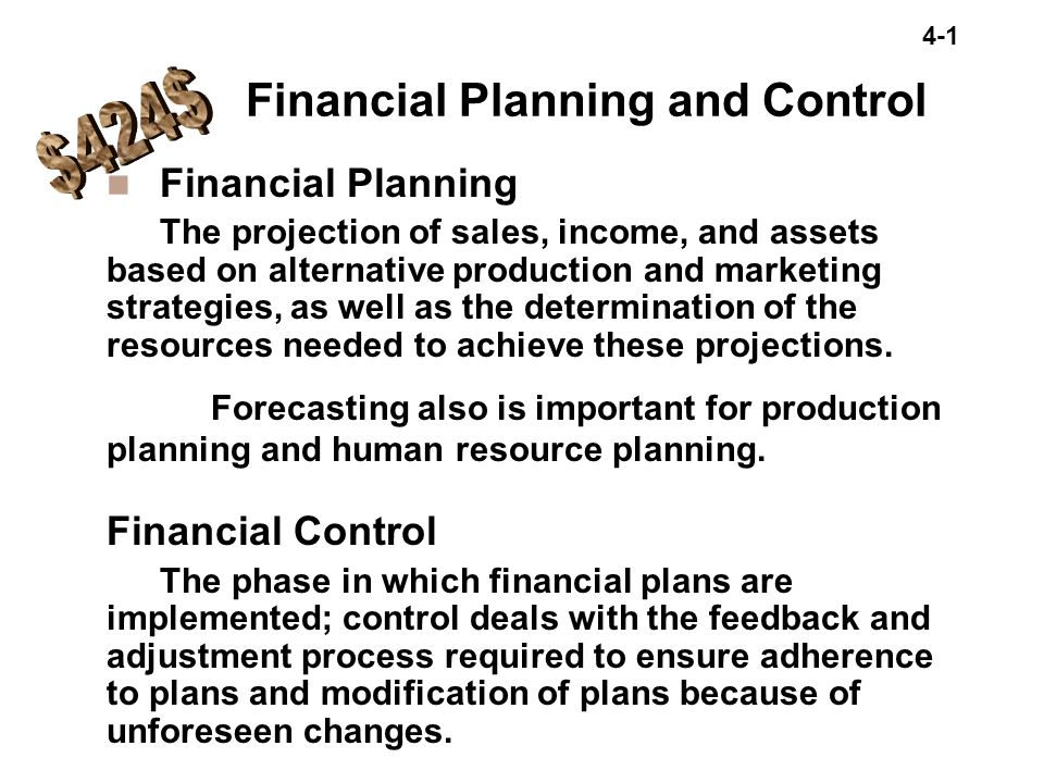 $424$ Financial Planning and Control Financial Planning