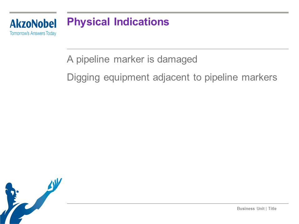 Physical Indications A pipeline marker is damaged