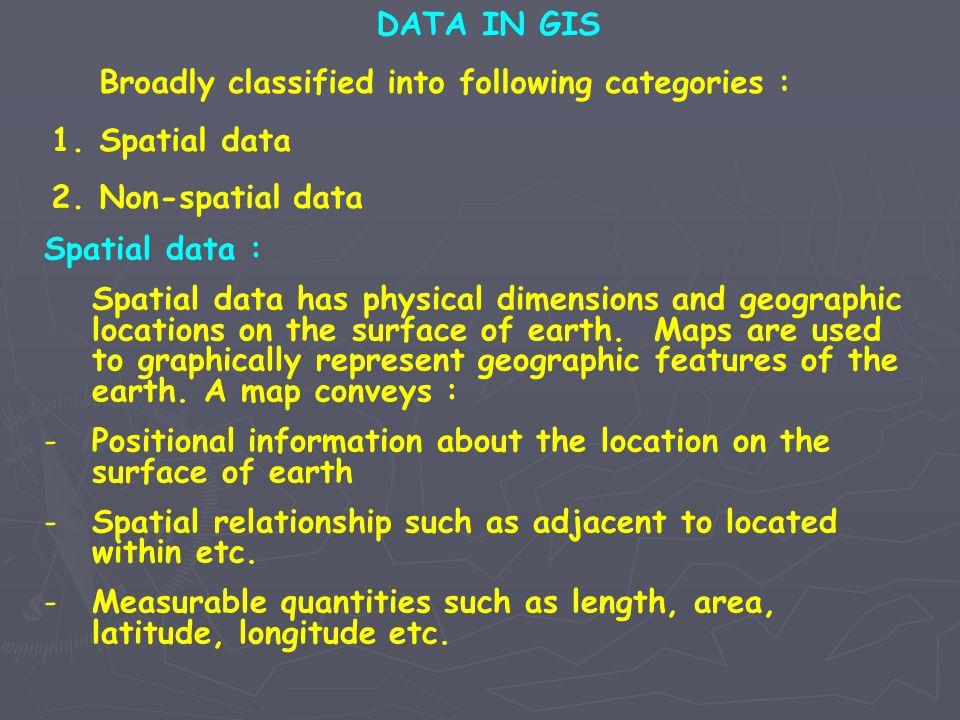 Positional information about the location on the surface of earth