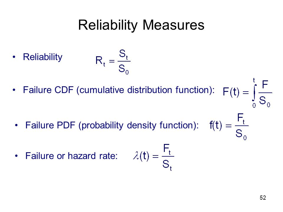 Reliability Measures Reliability