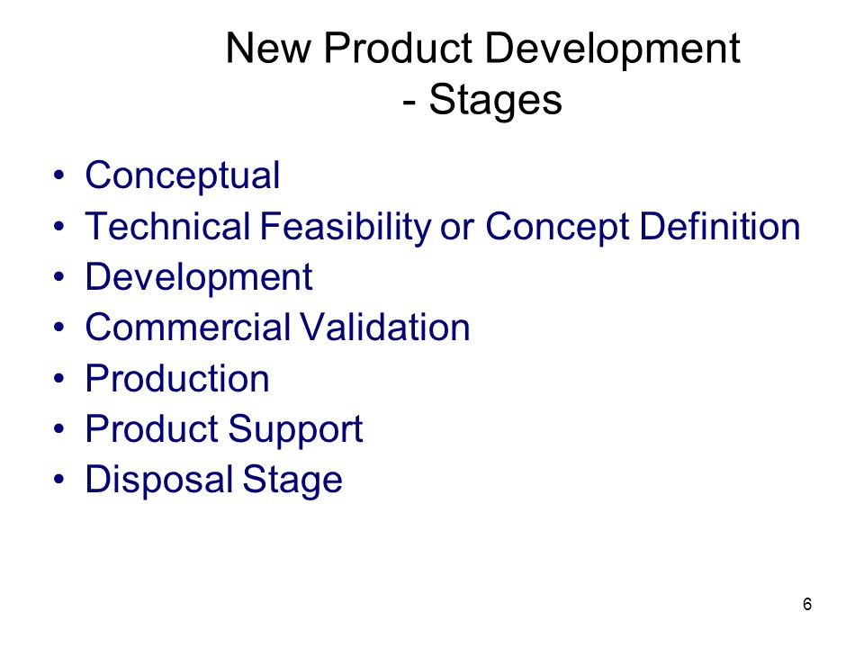 New Product Development - Stages