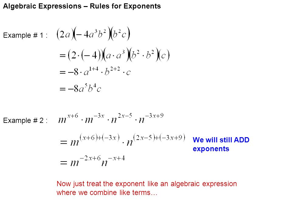 how to add exponents to text
