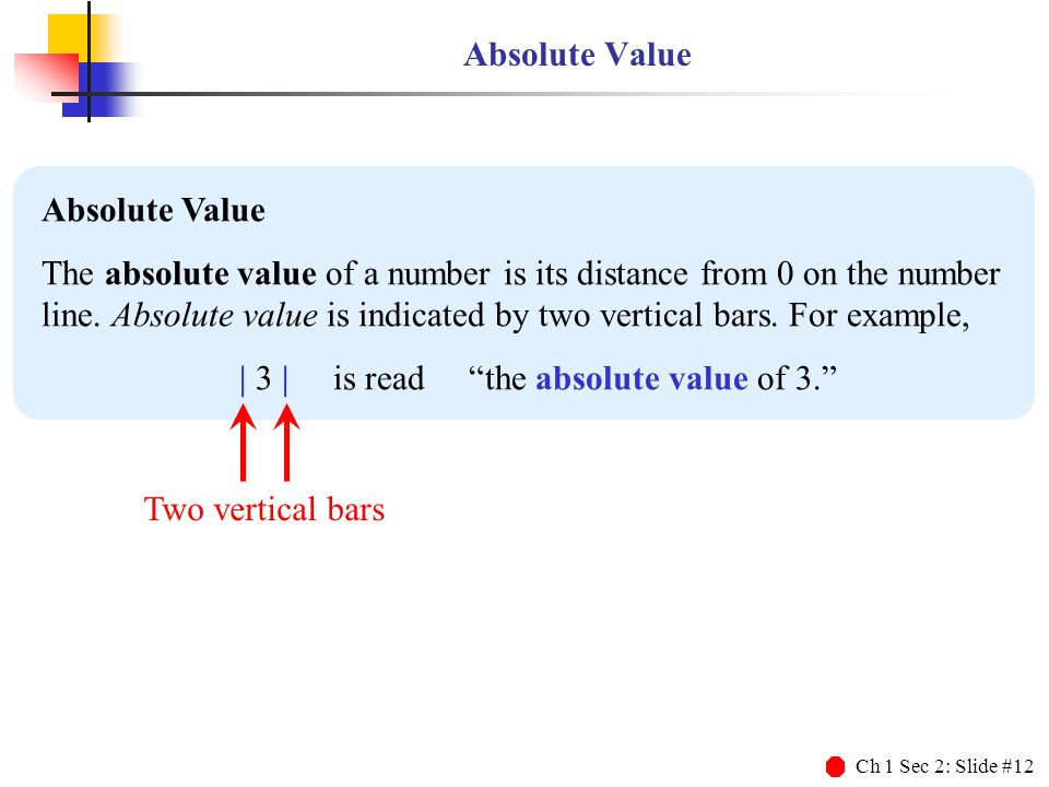 | 3 | is read the absolute value of 3.