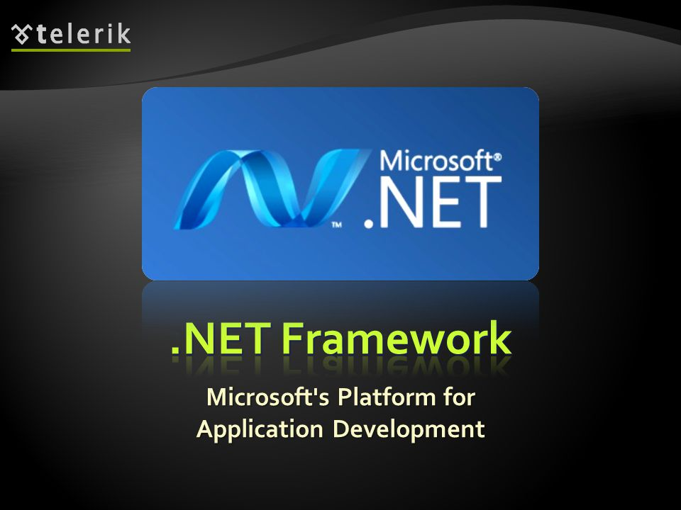 * Microsoft s Platform for Application Development
