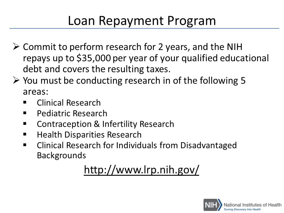 Nih and new and early stage investigators ppt video online download loan repayment program thecheapjerseys Gallery