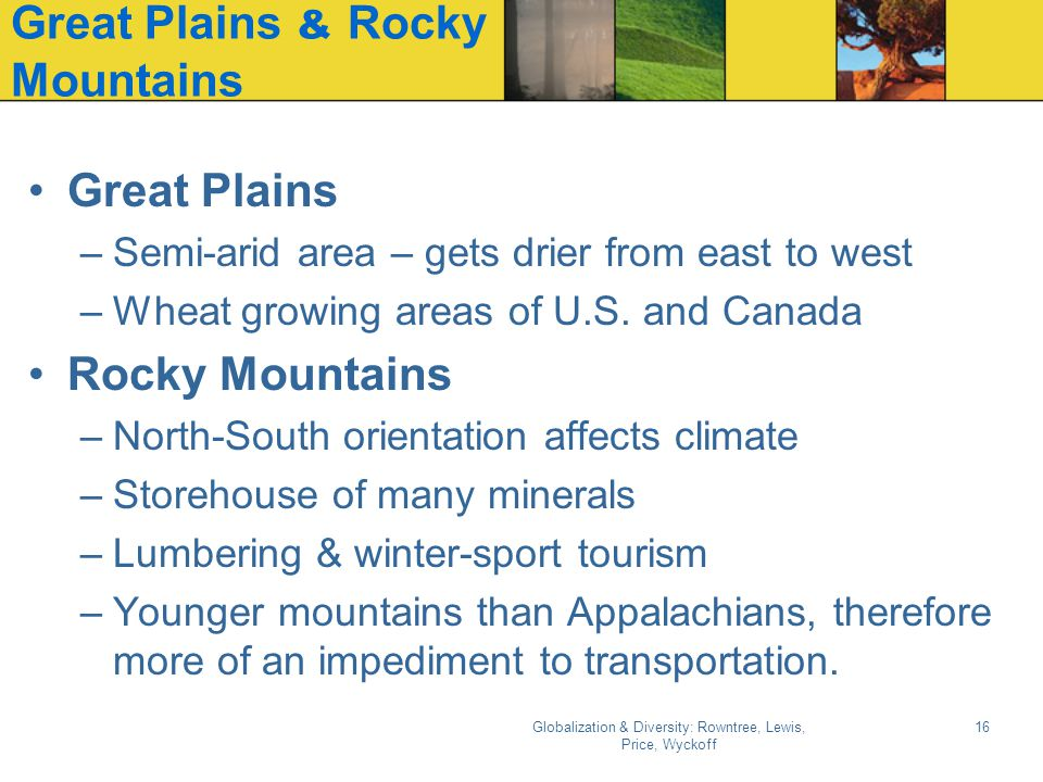 Great Plains & Rocky Mountains