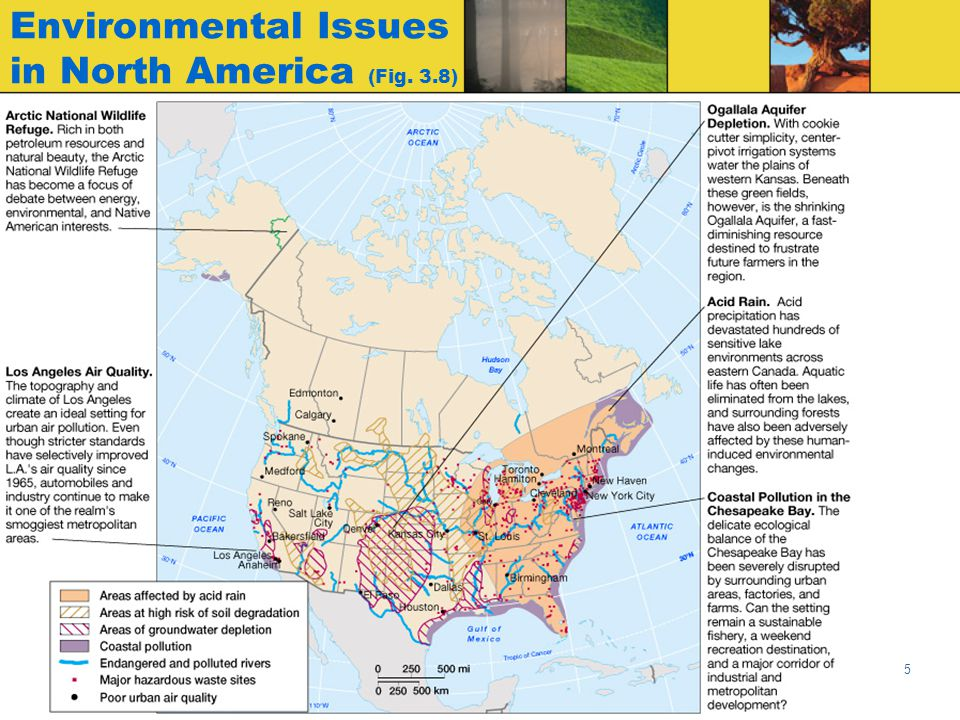 Environmental Issues in North America (Fig. 3.8)
