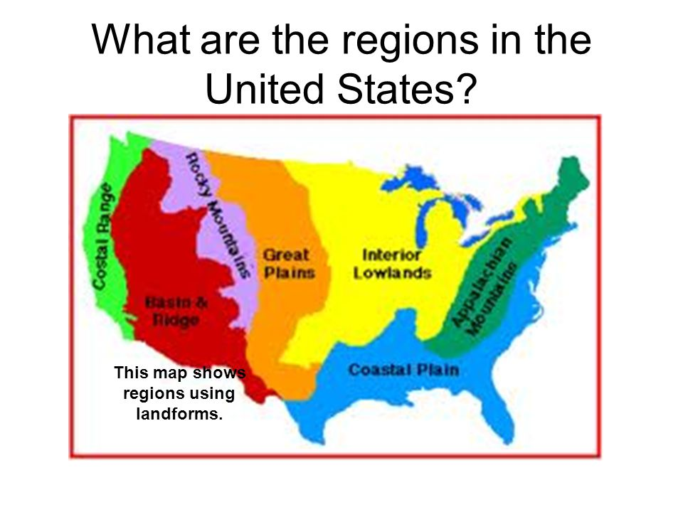 What are the regions in the United States